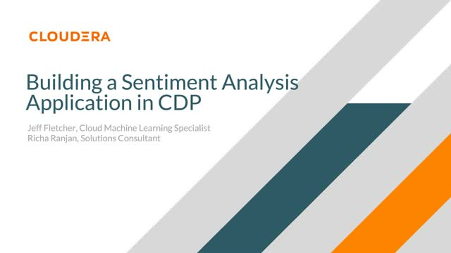 Build a sentiment analysis application in CDP
