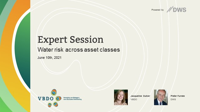 Water risk across asset classes expert session by VBDO in cooperation with DWS