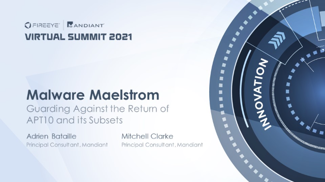 Malware Maelstrom: Guarding Against the Return of APT10 and its Subsets