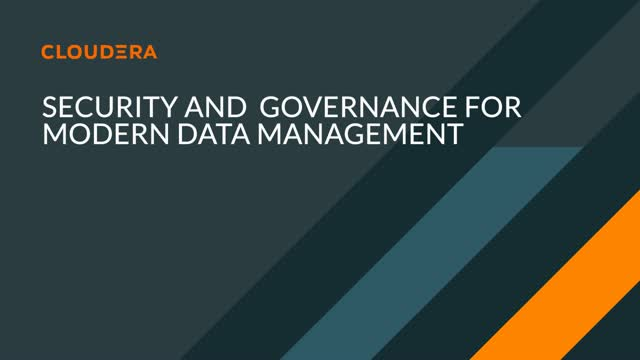 Security and Governance for Modern Data Management
