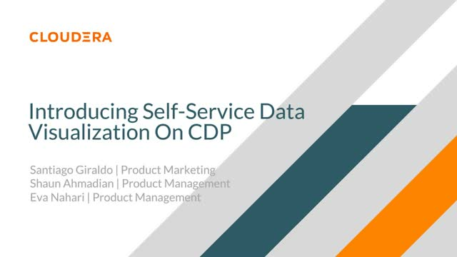 Introducing Self-Service Data Visualization On Cloudera Data Platform