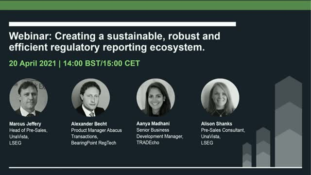 Creating a sustainable, robust and efficient regulatory reporting ecosystem