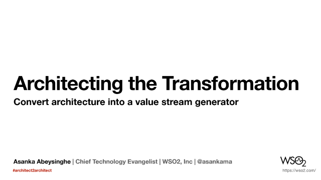 Architecting the Transformation