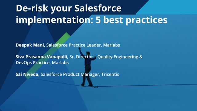 De-risk your Salesforce implementation: 5 best practices