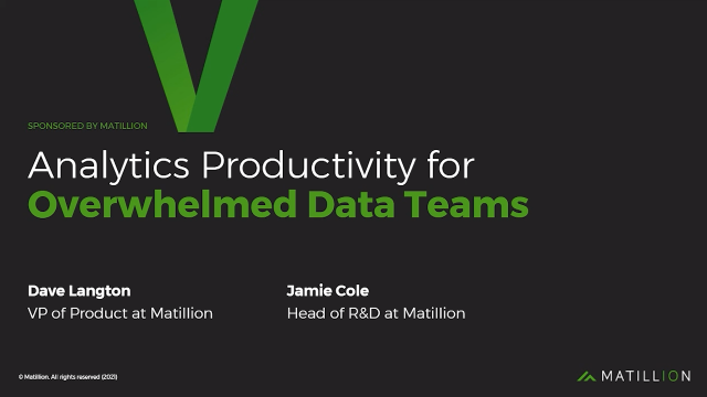 Analytics Productivity for Overwhelmed Data Teams