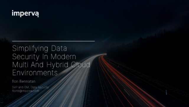 Simplifying Data Security in Modern Multi and Hybrid Cloud Environments