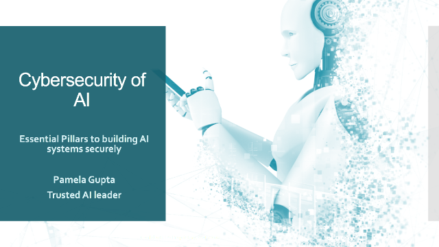 Cybersecurity of AI: Essential Pillars to building AI systems securely