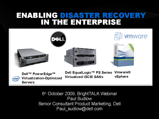 Enabling Disaster Recovery in the Enterprise