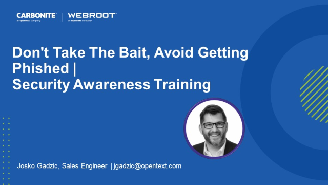 Don't Take The Bait, Avoid Getting Phished | Security Awareness Training