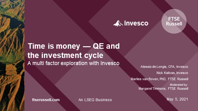 Time is money — QE and the investment cycle — A multifactor exploration
