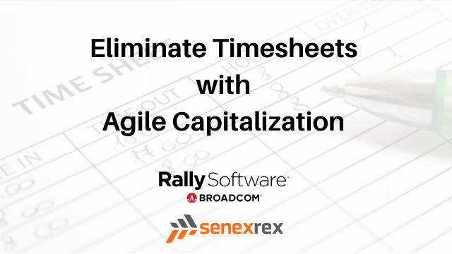 Eliminate Timesheets with Agile Capitalization