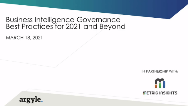 [Panel Discussion] Business Intelligence Governance Best Practices