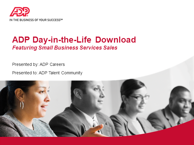 Entry-Level Sales in ADP's Small Business Services