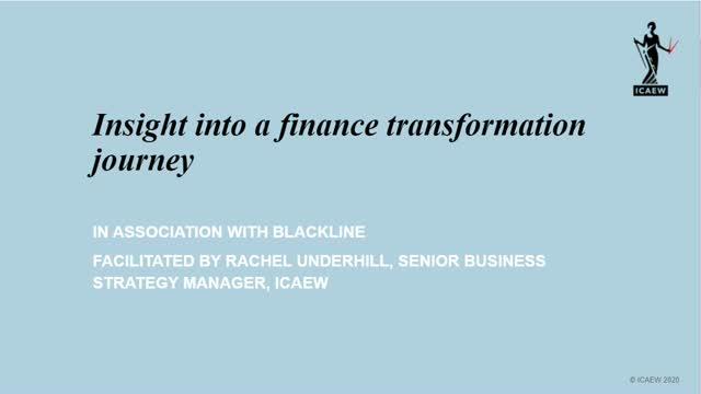 The Journey of NS to Digital Finance Transformation
