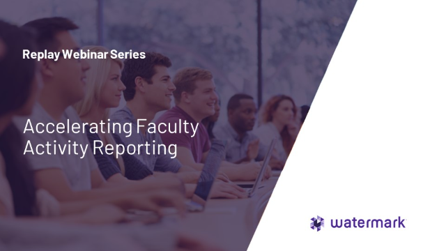Accelerating Faculty Activity Reporting