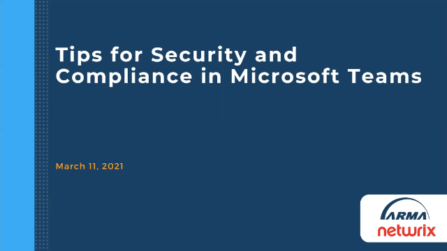 Tips for Security and Compliance in Microsoft Teams