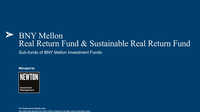 BNY Mellon Real Return & BNY Mellon Sustainable Real Return - Fund Update