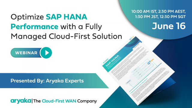 Optimize SAP HANA Performance with a Cloud-First Solution (APAC Edition)