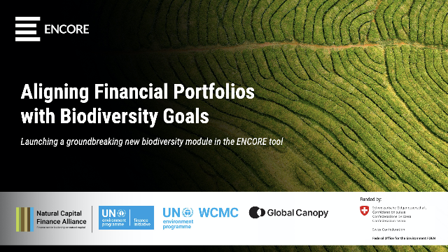 Aligning Financial Portfolios with Biodiversity Goals