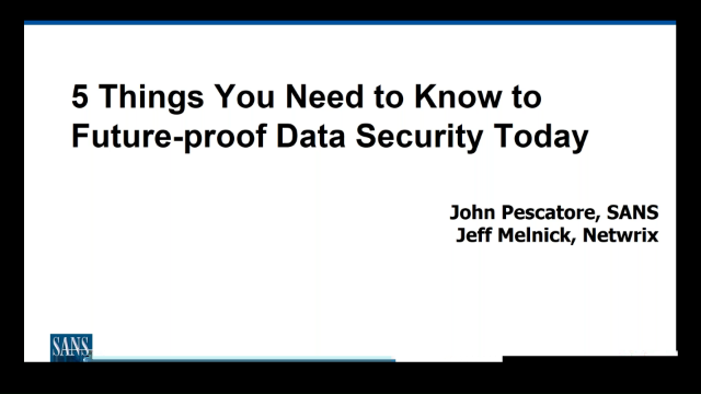5 Things You Need to Know to Future-Proof Your Data Security Today