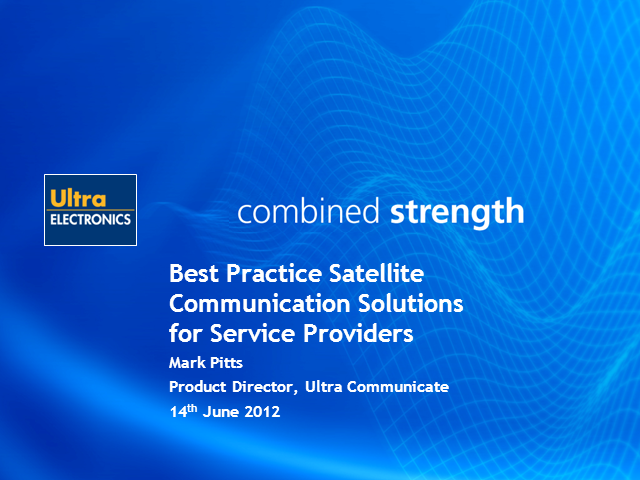 Best Practice Satellite Communication Solutions for Service Providers