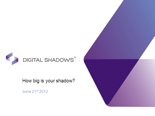 How Big is Your Company's Digital Shadow?