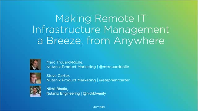 Enabling Remote IT Infrastructure Management from Anywhere