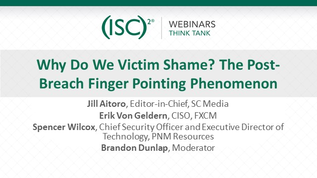 Why Do We Victim Shame? The Post-Breach Finger Pointing Phenomenon