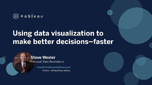 Using data visualization to make better decisions—faster