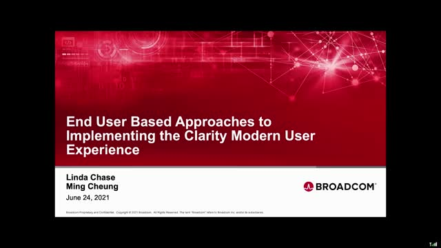 End User Based Approaches to Implementing the Clarity Modern User Experience