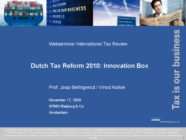 The Netherlands Budget and the Patent Box