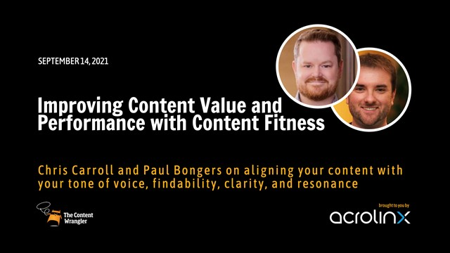Improving Content Value and Performance with Content Fitness