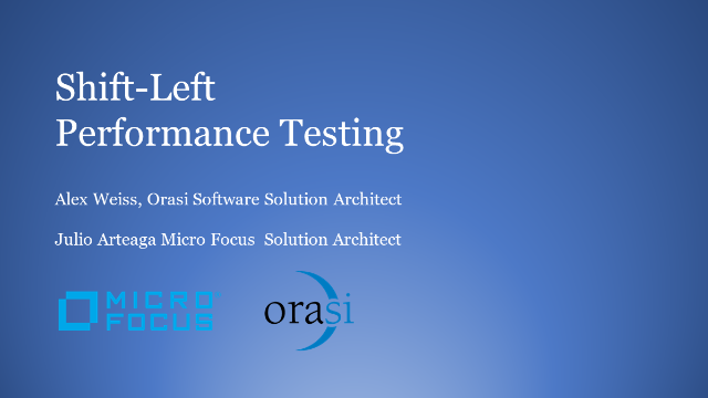 Shift-Left Performance Testing