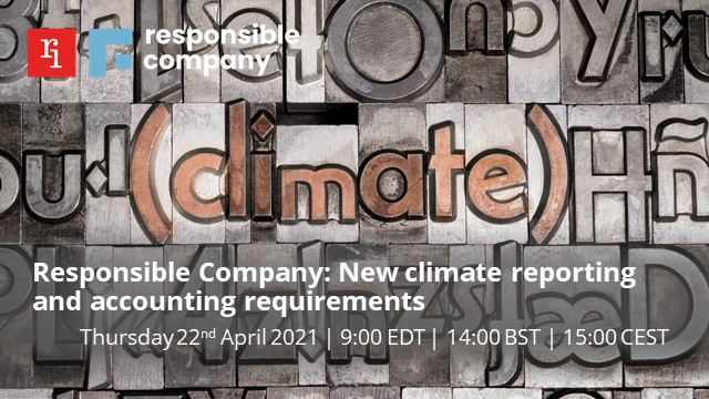 Responsible Company: New climate reporting and accounting requirements