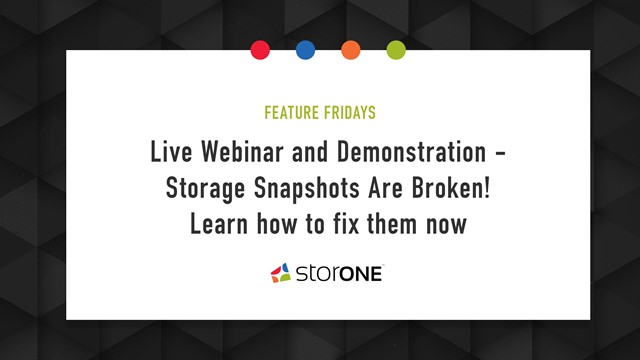 Webinar and Demonstration: Storage Snapshots Are Useless, Learn how to fix them