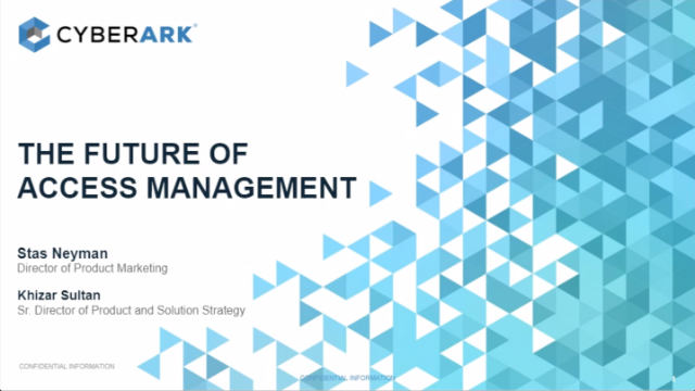 The Future of Access Management