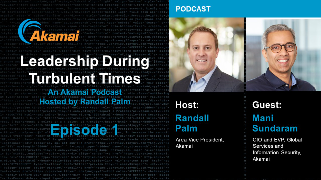 Leadership During Turbulent Times Podcast - Episode 1