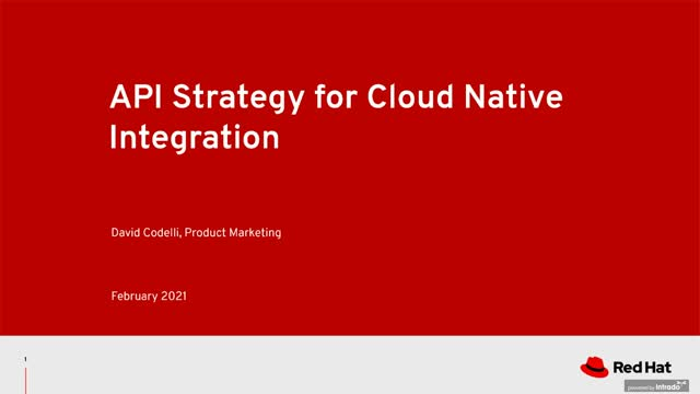 API strategy for cloud-native integration
