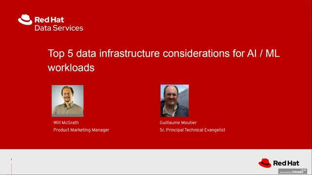 Top-5 data infrastructure considerations for AI/ML workloads