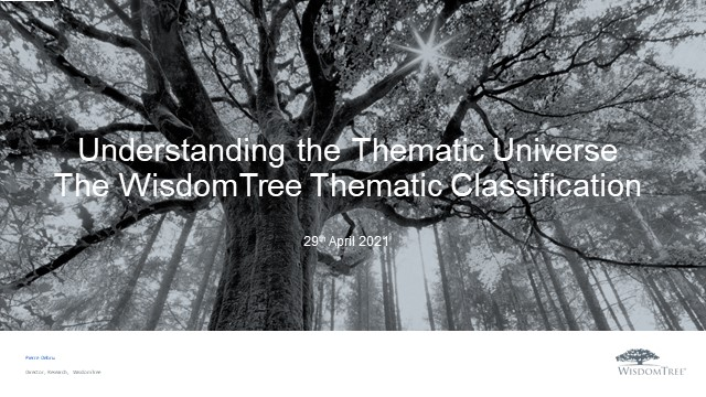 Thematic Investing Series 1: Understanding the thematic universe