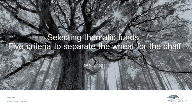 Thematic Investing Series 2: Selecting thematic funds