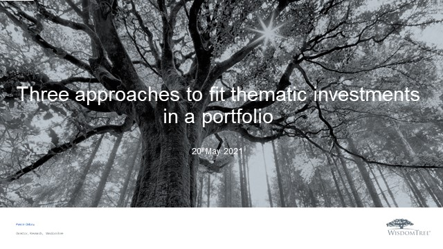Thematic Investing 4 Three approaches to fit thematic investments in a portfolio