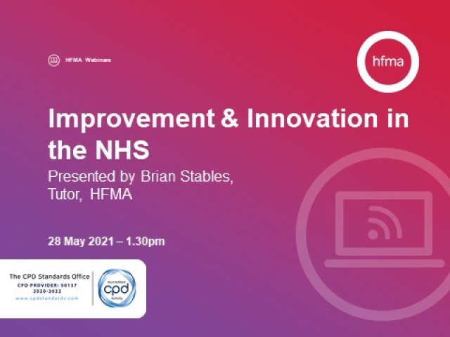 Innovation & Improvement in the NHS