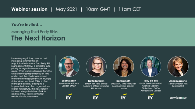 Webinar session: Managing Third Party Risks – The Next Horizon