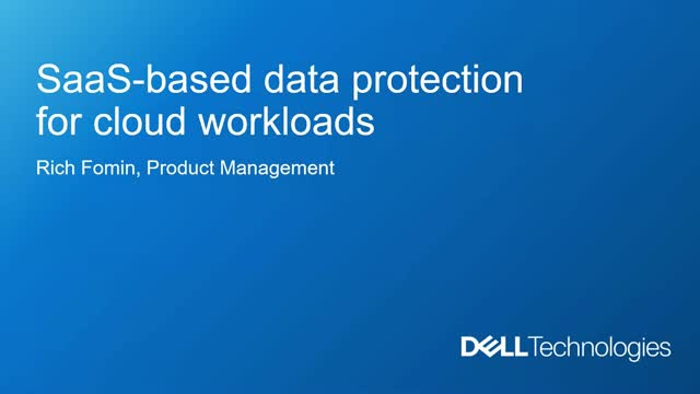 SaaS-based Data Protection for Cloud Workloads