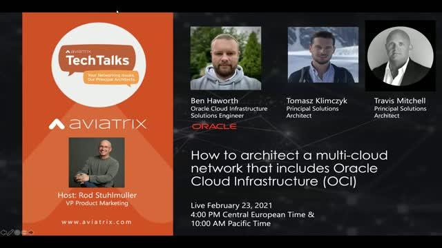 Architect a multi-cloud network that includes Oracle Cloud Infrastructure (EMEA)