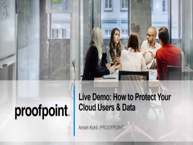 Live Demo: How to Protect Your Cloud Users and Data