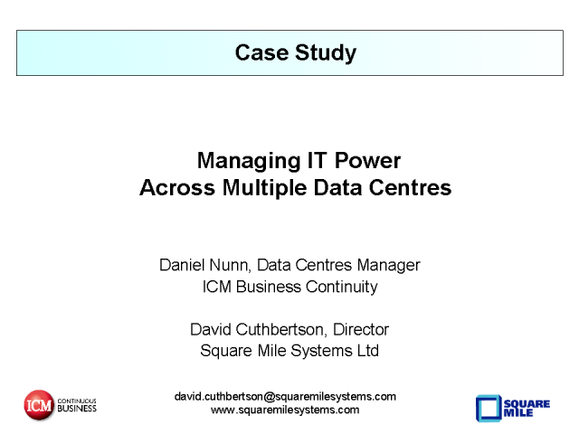Green Data Centre Case Study