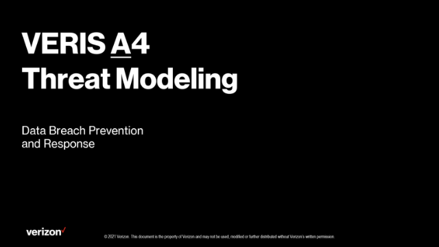 Threat Modeling with the VERIS A4 Threat Model