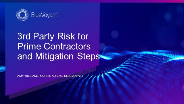 3rd Party Risk for Prime Contractors and Mitigation Steps